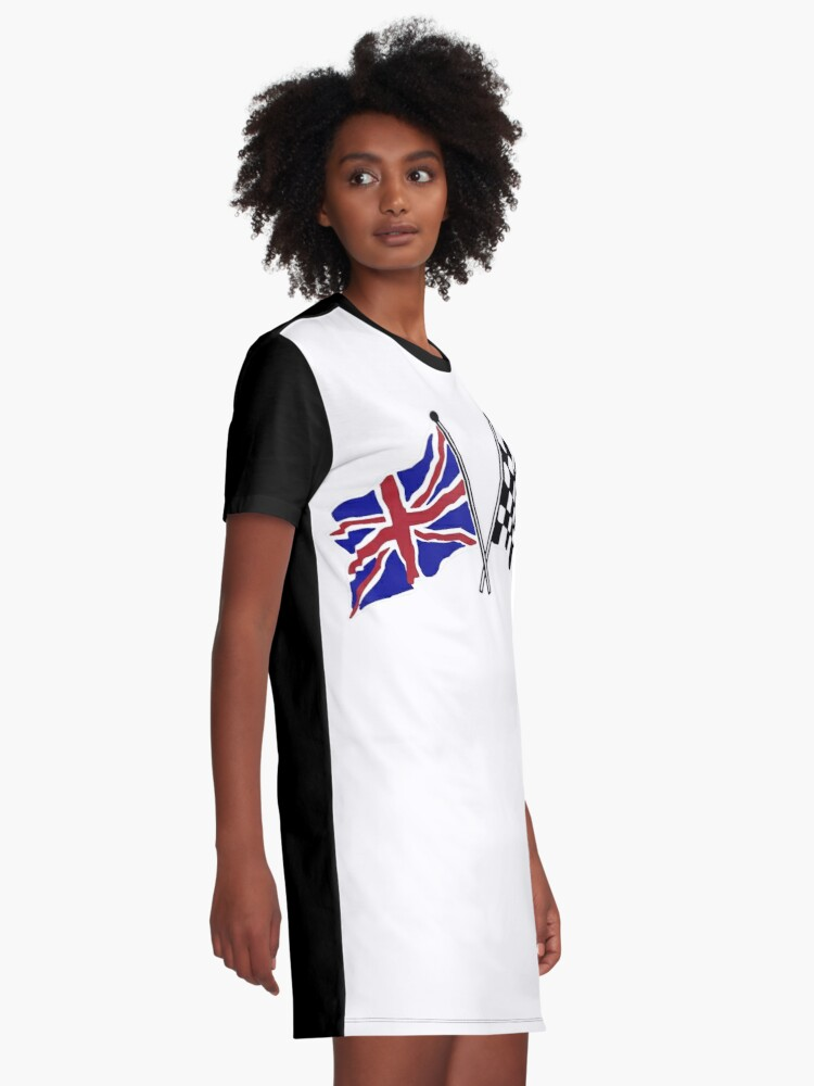 Alternate view of Crossed flags - Racing and Great Britain Graphic T-Shirt Dress