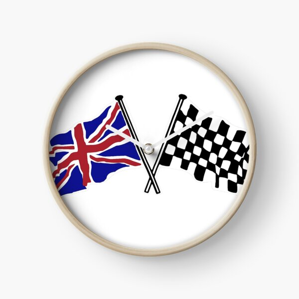 Crossed flags - Racing and Great Britain Clock