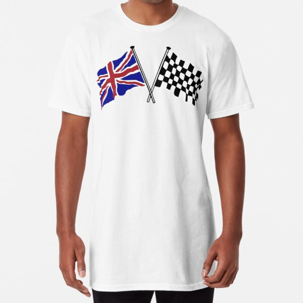 Crossed flags - Racing and Great Britain Long T-Shirt