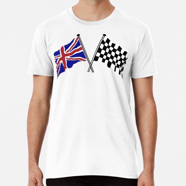 Crossed flags - Racing and Great Britain Premium T-Shirt