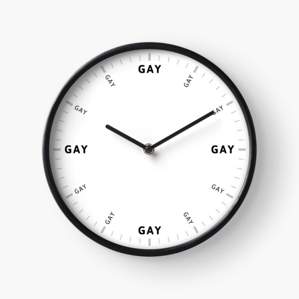GAY TIME (full design) Clock
