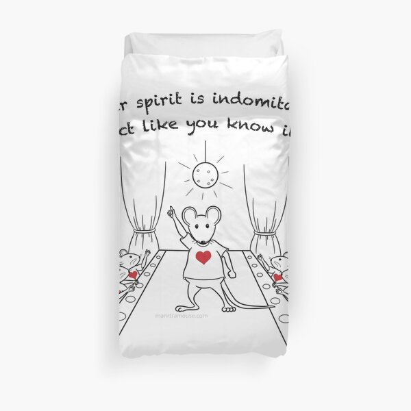 Dancing MantraMouse Act Like You Know It Cartoon Duvet Cover