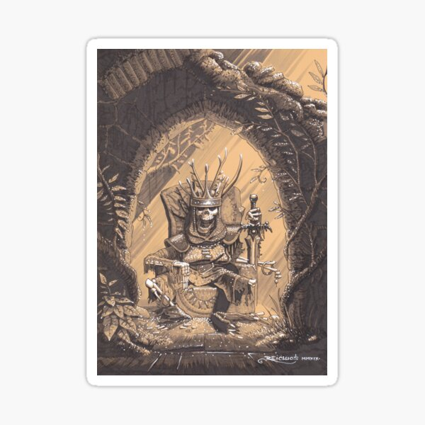 Ancient king Sticker
