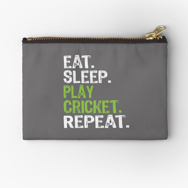 Best Eat Sleep Cricket Gift Design Zipper Pouch