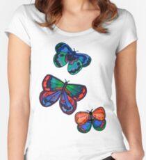 3 Bold Butterflies Women's Fitted Scoop T-Shirt