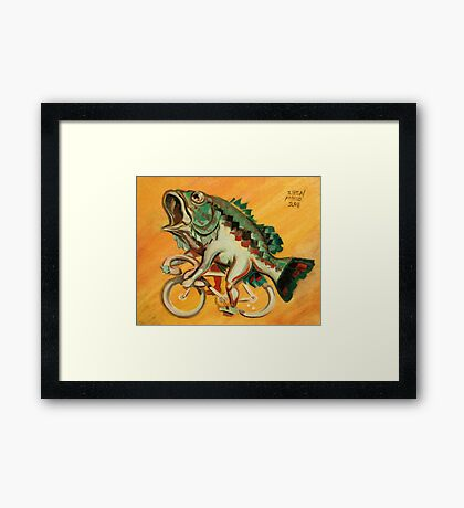 Bass on a Bicycle Framed Print