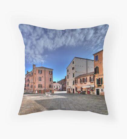 A hidden, quiet Venice - Campo de l'Anzolo Rafael Throw Pillow