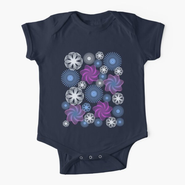 Dancing Spirographs Short Sleeve Baby One-Piece