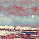 Berndt Lindholm - Winter Landscape in Moonlight art by MotionAge Media