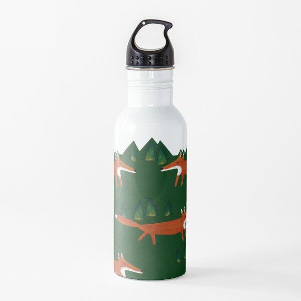 Wald mit Fuchs. Märchenhaftes Muster. Für große und kleine Kinder. Trinkflasche