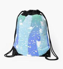 Wintery Trees Drawstring Bag