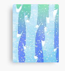 Wintery Trees Metal Print