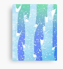 Wintery Trees Canvas Print