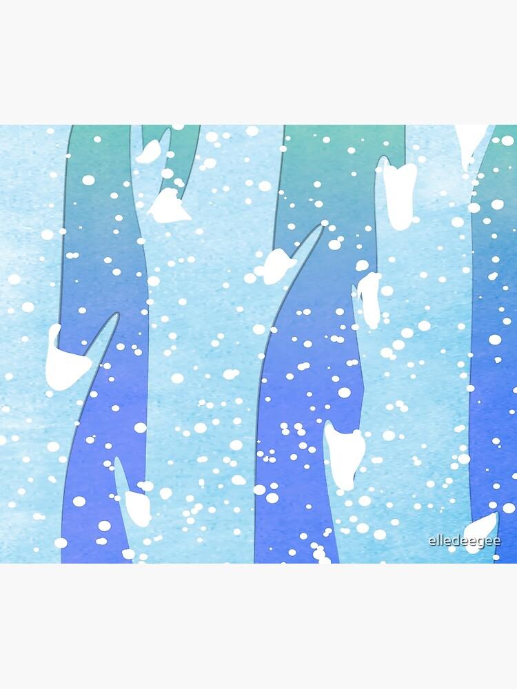 Wintery Trees by elledeegee