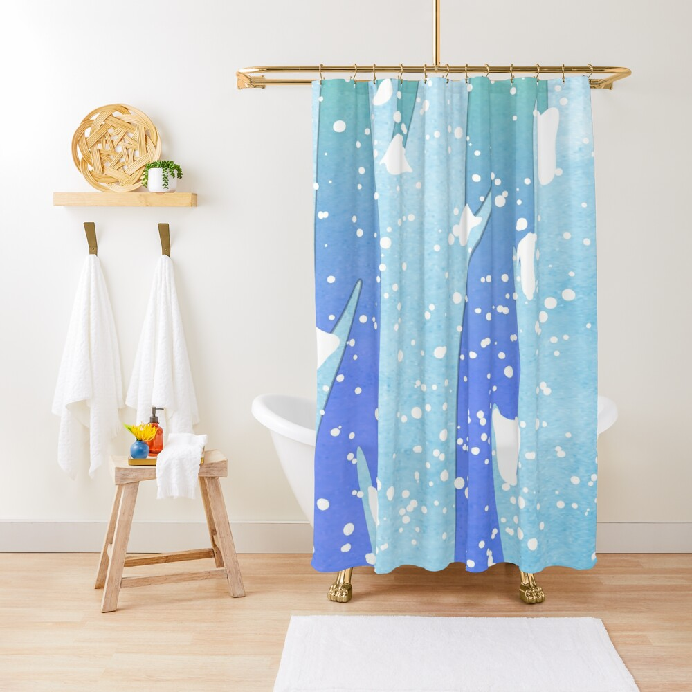 Wintery Trees Shower Curtain