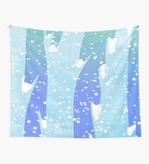 Wintery Trees Wall Tapestry