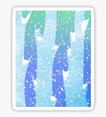 Wintery Trees Glossy Sticker