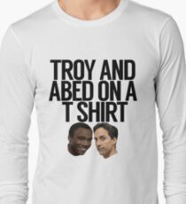 Troy And Abed On A T Shirt Long Sleeve T-Shirt