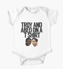 Troy And Abed On A T Shirt One Piece - Short Sleeve