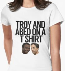 Troy And Abed On A T Shirt Women's Fitted T-Shirt