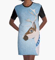 Reindeer Graphic T-Shirt Dress