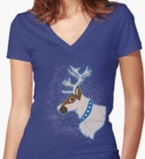 Reindeer Fitted V-Neck T-Shirt