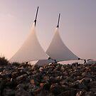 Sails - Cardiff Bay Barrage by Hucksty