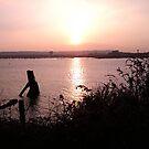 Sunset - Cardiff Marina by Hucksty