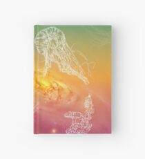Galactic Rainbow Jellyfish Hardcover Journal