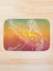 Galactic Rainbow Jellyfish Bath Mat