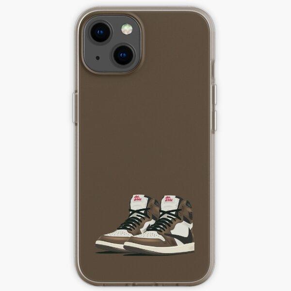 AJ 1 Par de moca oscuro Funda blanda para iPhone