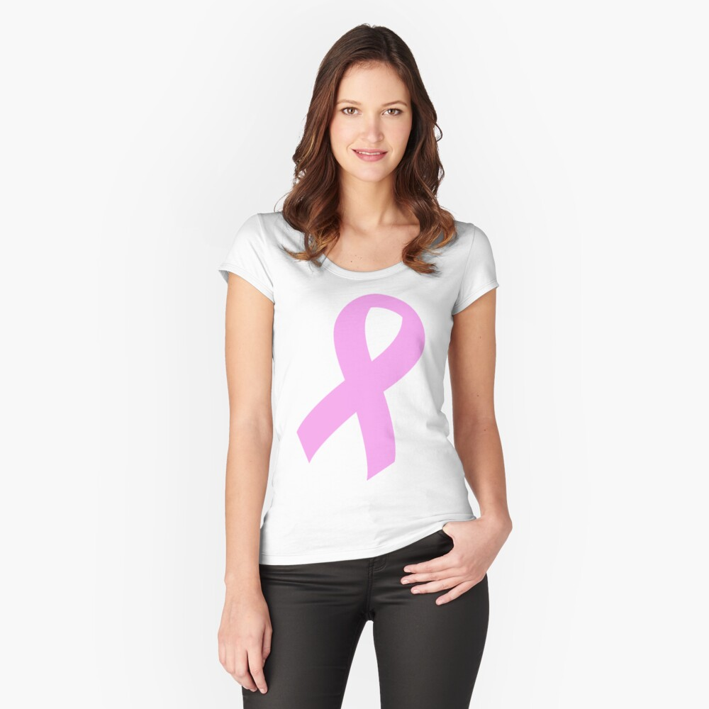 Breast Cancer Ribbon Women's Fitted Scoop T-Shirt Front