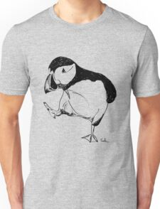 Puffin takes a walk Unisex T-Shirt