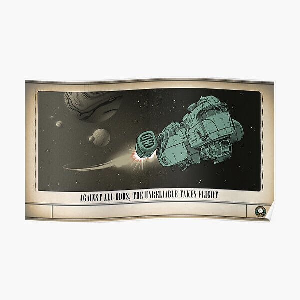 The Outer Worlds Unreliable Poster Poster