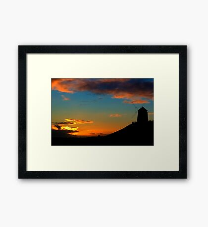 Sunset At The Windmill Framed Print