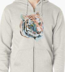 Tiger No.2 Head Zipped Hoodie