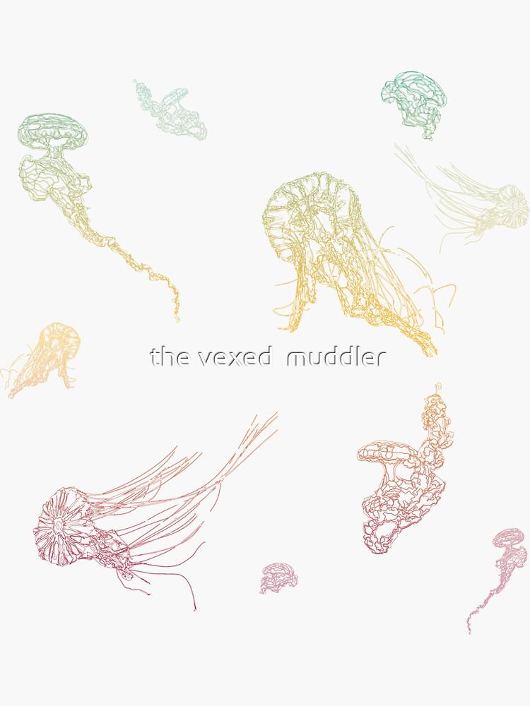 Rainbow Jellyfish by thevexedmuddler