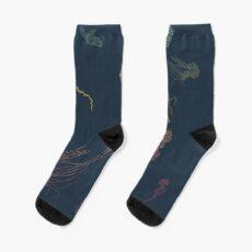 Rainbow Jellyfish Sock