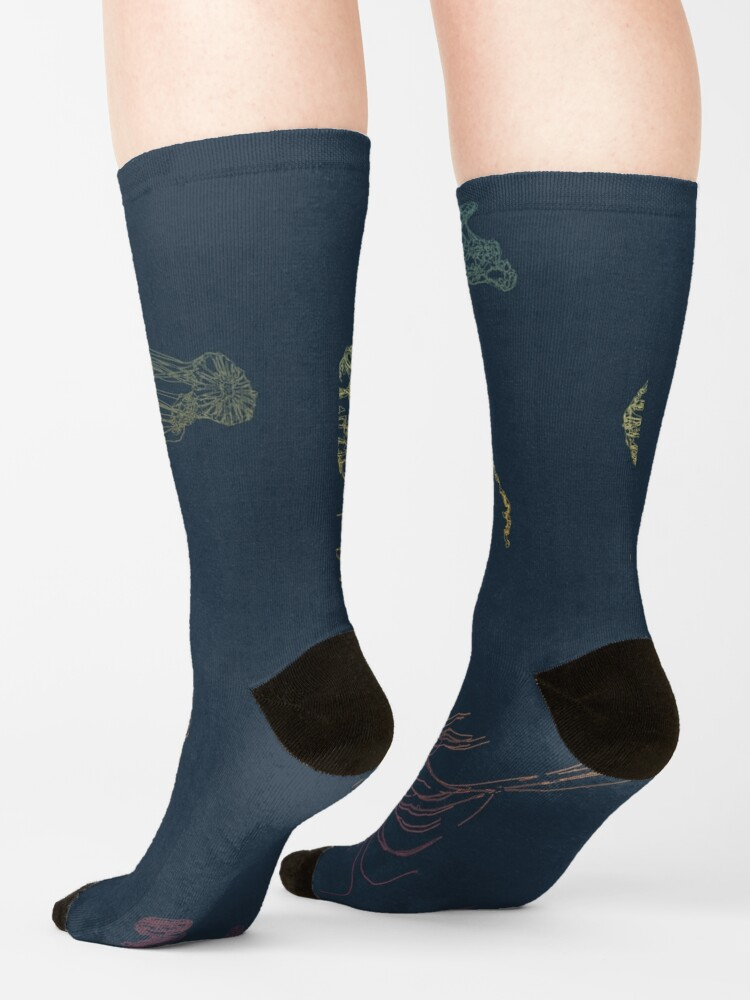 Alternate view of Rainbow Jellyfish Socks