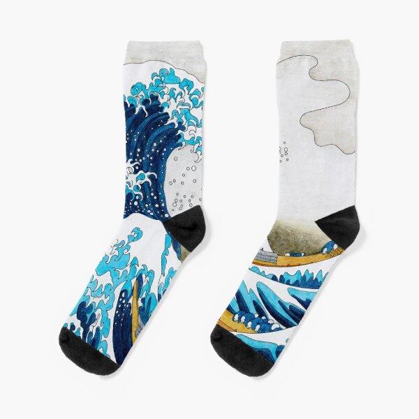 Great Wave Off Kanagawa  Socks