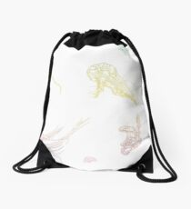 Rainbow Jellyfish Drawstring Bag