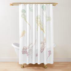 Rainbow Jellyfish Shower Curtain