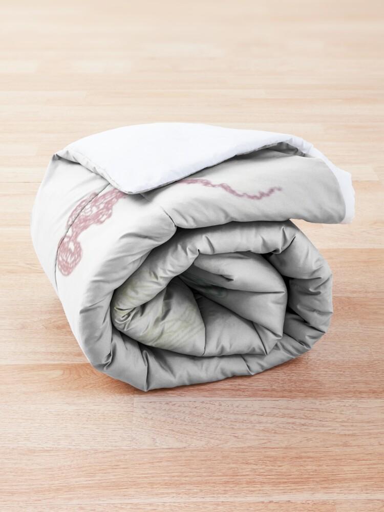 Alternate view of Rainbow Jellyfish Comforter