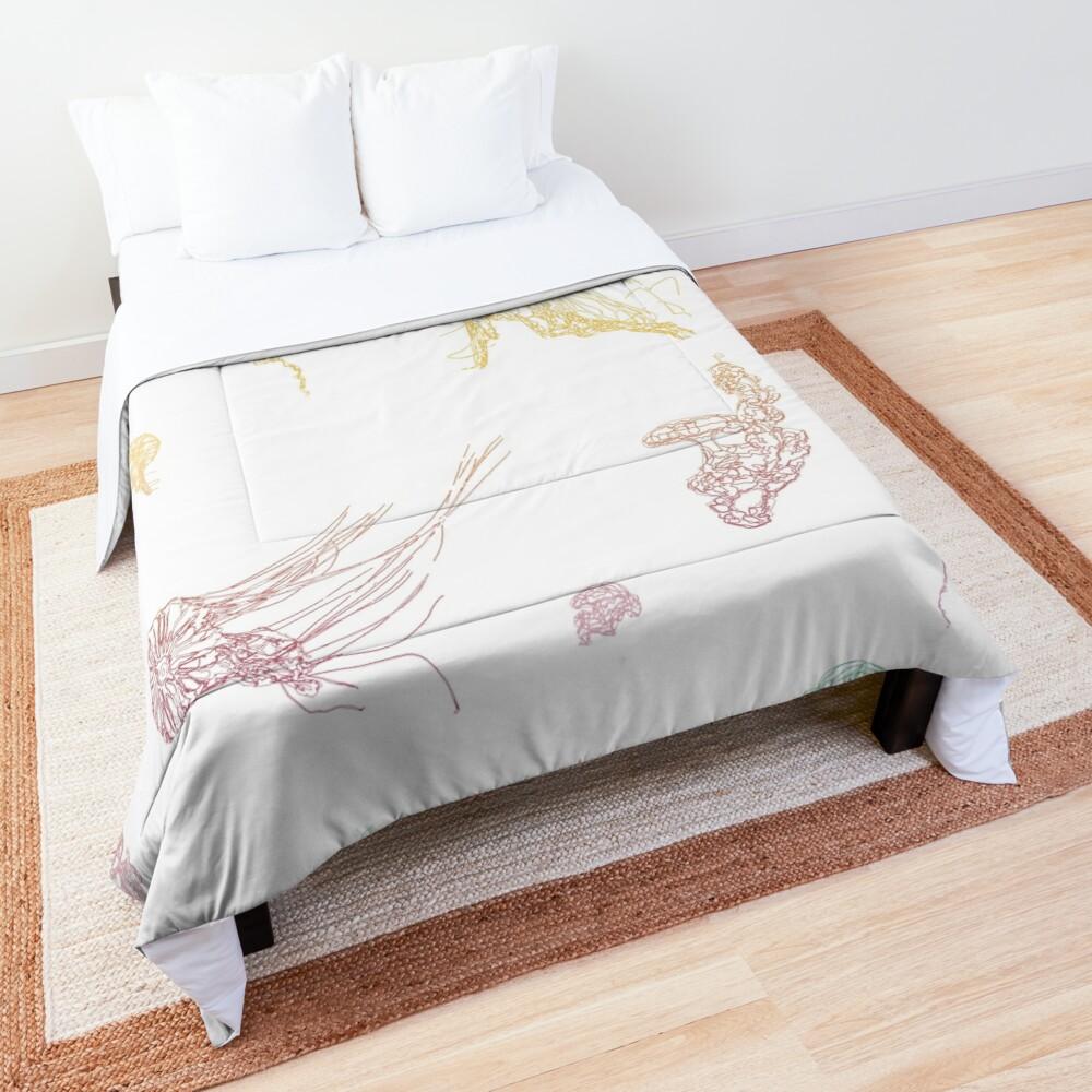 Rainbow Jellyfish Comforter