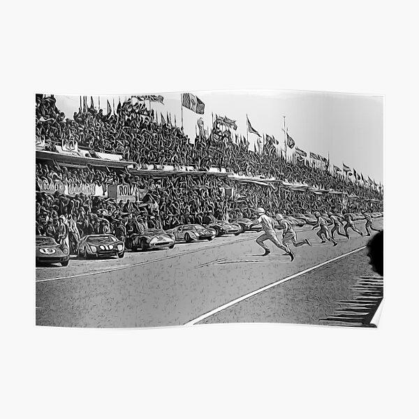 Inicio 24h Le Mans 1964 Póster