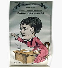 André Gill Caricature 09265 Maria Deraismes Poster