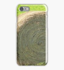 Hay Bales in a Field iPhone Case/Skin