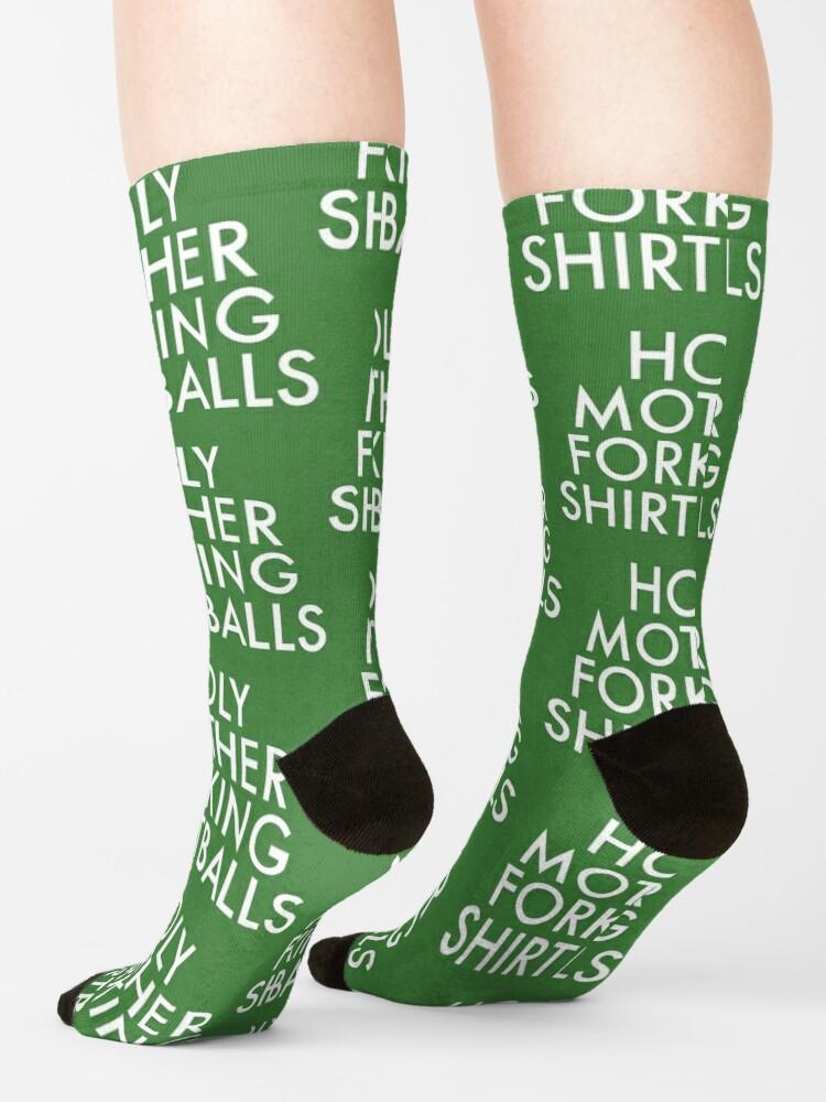 Alternate view of Holy Motherforking Shirtballs Socks