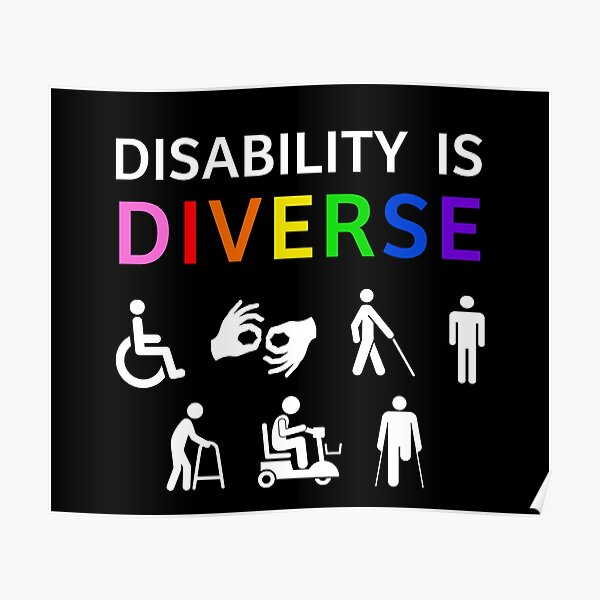 Disability Is Diverse Rainbow Pride Poster
