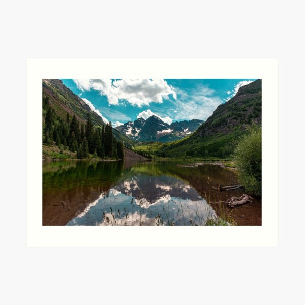 Maroon Bells on a Summer Day Art Print
